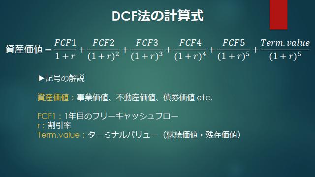 DCF法の計算式