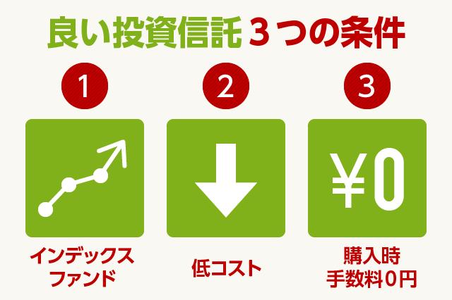 良い投資信託3つの条件