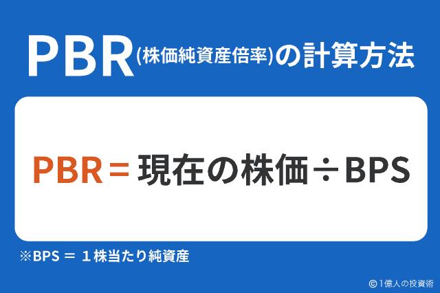 PBR(株価純資産倍率)の計算方法