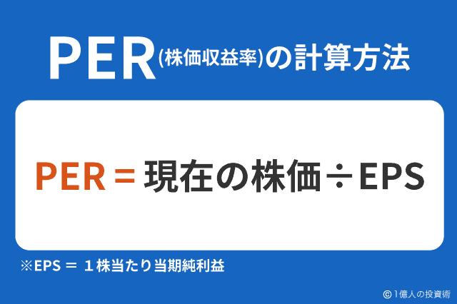 PER(株価収益率)の計算方法
