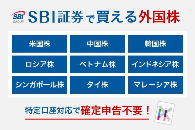 SBI証券の外国株