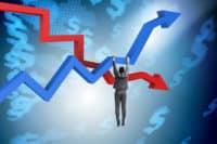 株価下落に耐える投資家